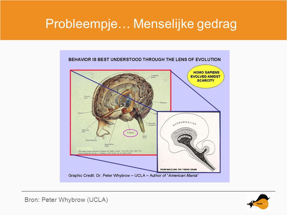 Probleempje… Menselijke gedrag Bron: Peter Whybrow (UCLA)