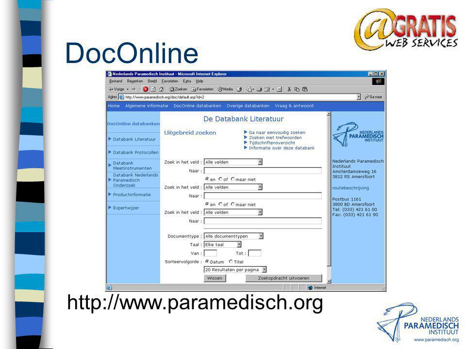 Afd. Documentaire Informatie CINAHL = Cumulated Index of Nursing and Allied Health Literature