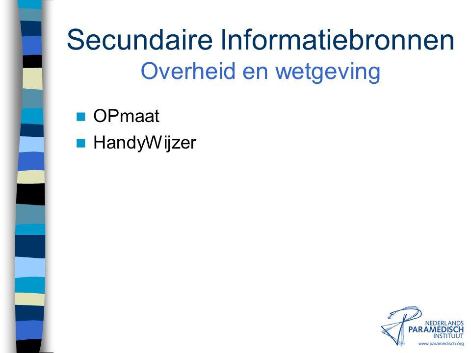 Secundaire Informatiebronnen Productinformatie REHADAT (D/CDN) HandyWijzer