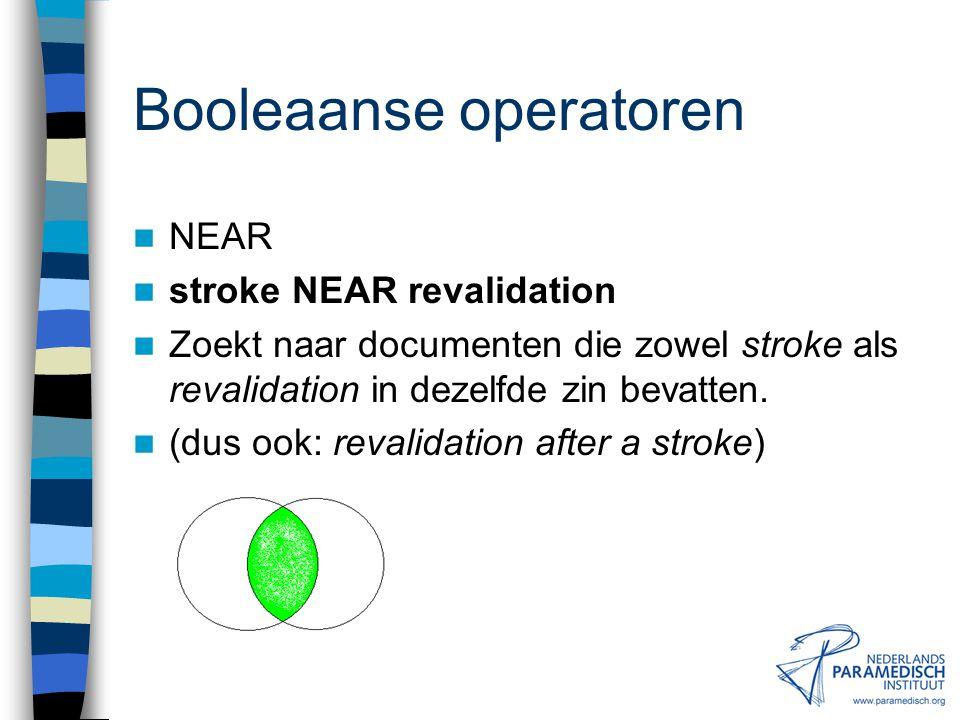 """Booleaanse operatoren ADJ""""…"""" centraal ADJ zenuwstelsel """"centraal zenuwstelsel"""" Zoekt naar documenten die centraal zenuwstelsel bevatten (achter elkaar"""
