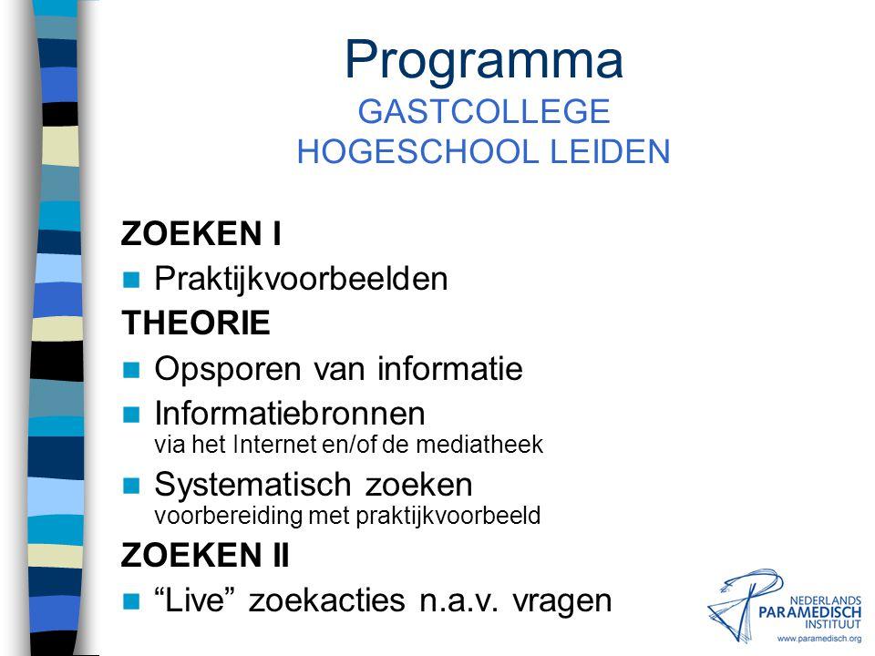 Documentatiecentrum NPi Amsterdamseweg 16, 3812 RS Amersfoort Tel: (033) 421 61 20, Fax: (033) 421 61 90 E-mail: doc@paramedisch.org