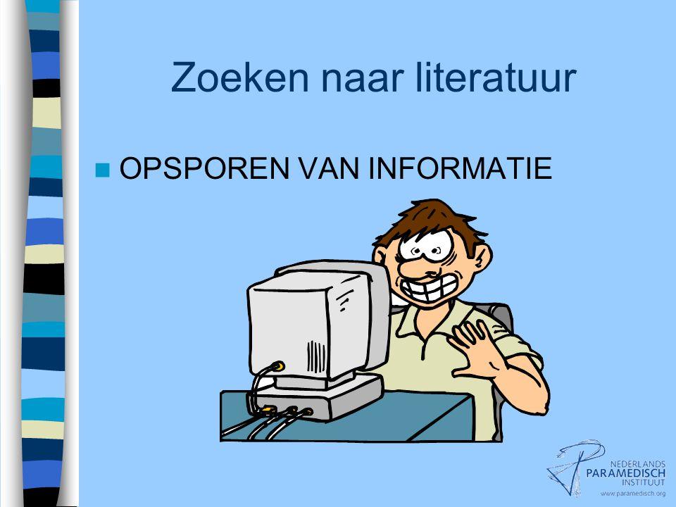 VI.Indextermen Systematisch literatuur zoeken VI.