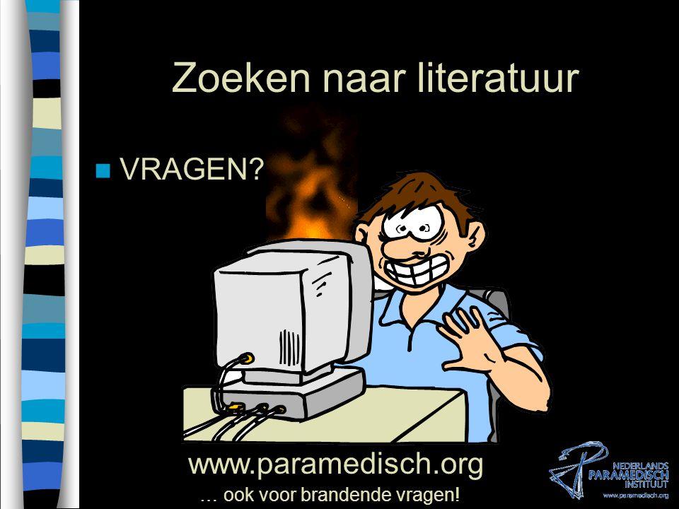 VII.zoekstrategie Systematisch literatuur zoeken VII.