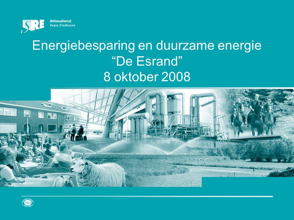 Energiebesparing en duurzame energie De Esrand 8 oktober 2008