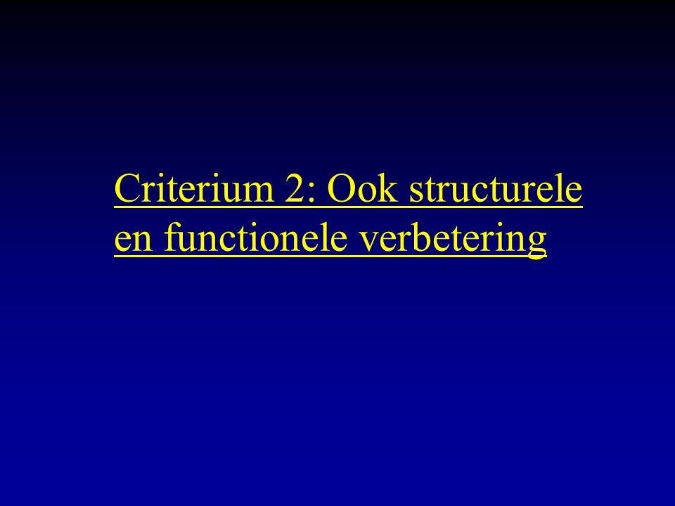 Criterium 2: Ook structurele en functionele verbetering