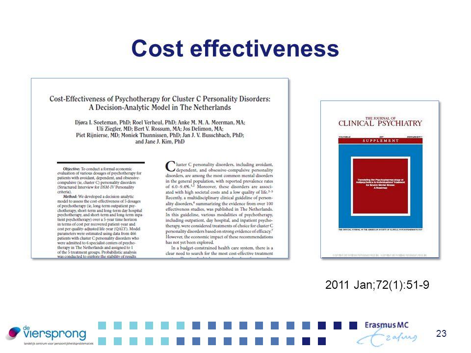Cost effectiveness 23 2011 Jan;72(1):51-9