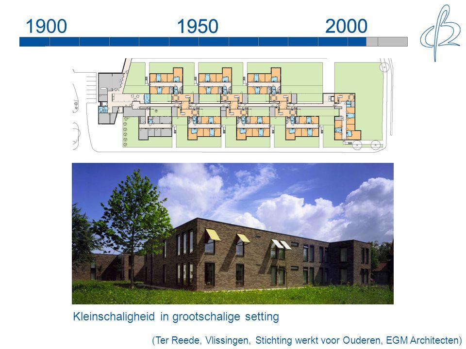 190019502000 Kleinschaligheid in grootschalige setting 1950 2000 (Ter Reede, Vlissingen, Stichting werkt voor Ouderen, EGM Architecten)