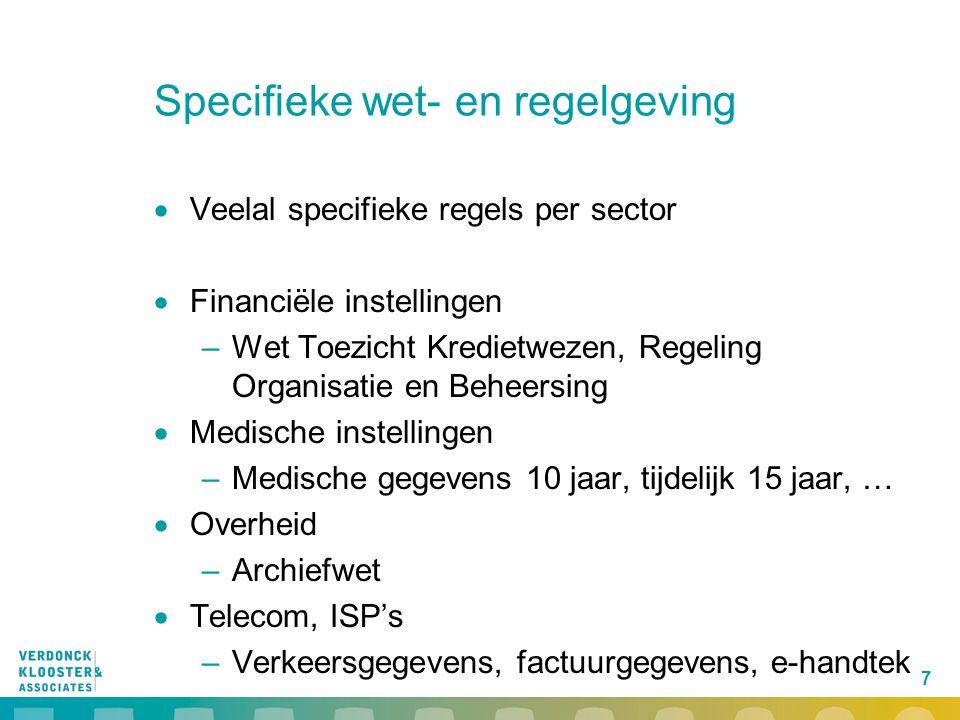 18 Elektronische en digitale handtekening in RMA  Welke vorm wanneer voldoende betrouwbaar.
