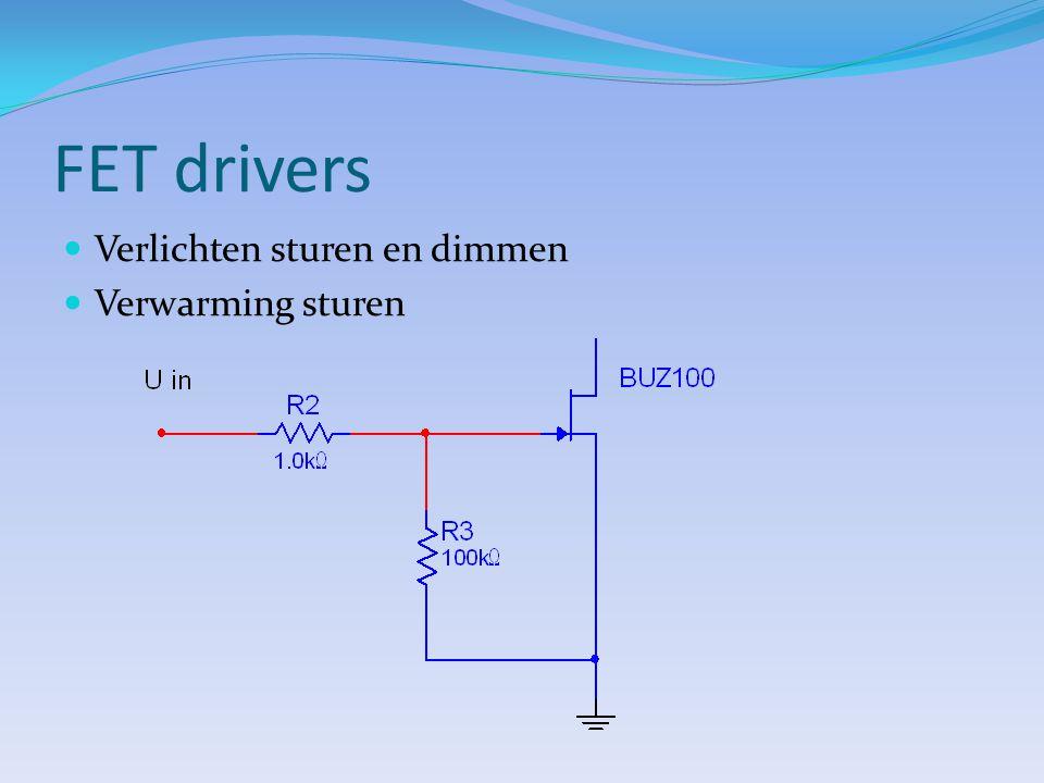 FET drivers Verlichten sturen en dimmen Verwarming sturen