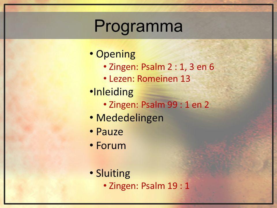 Opening 1 Wat drift beheerst het woedend heidendom, En heeft het hart der volken ingenomen.