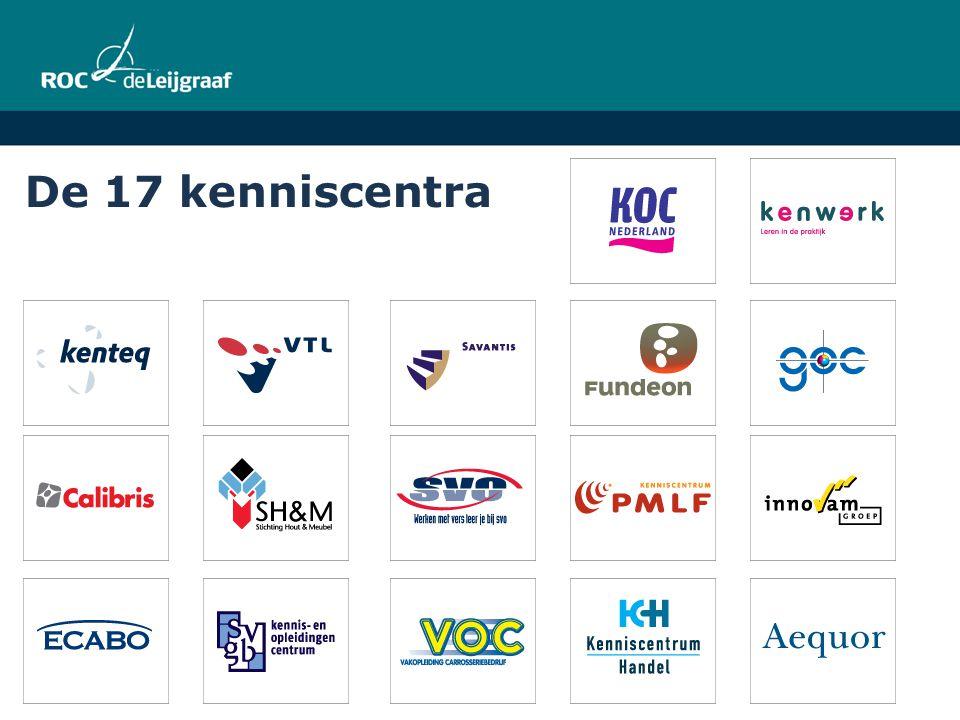 De 17 kenniscentra