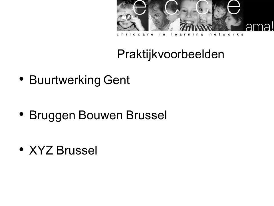 Praktijkvoorbeelden Buurtwerking Gent Bruggen Bouwen Brussel XYZ Brussel