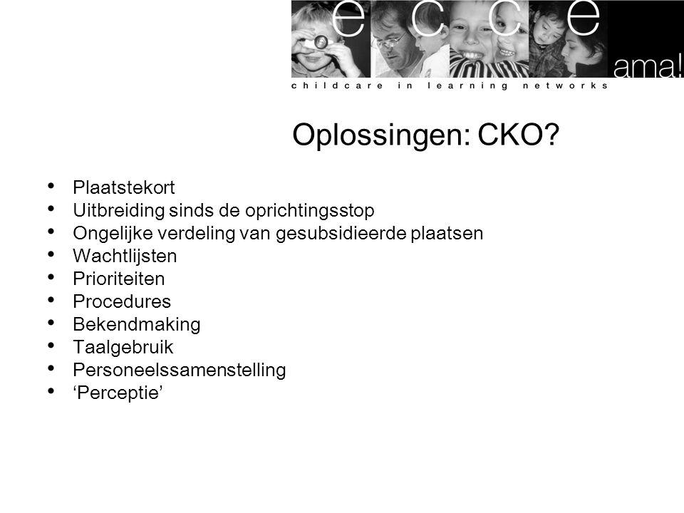 Oplossingen: CKO.
