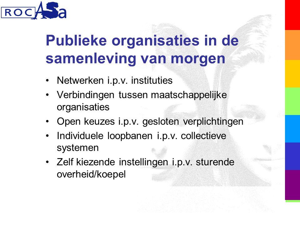 Publieke organisaties in de samenleving van morgen Netwerken i.p.v.