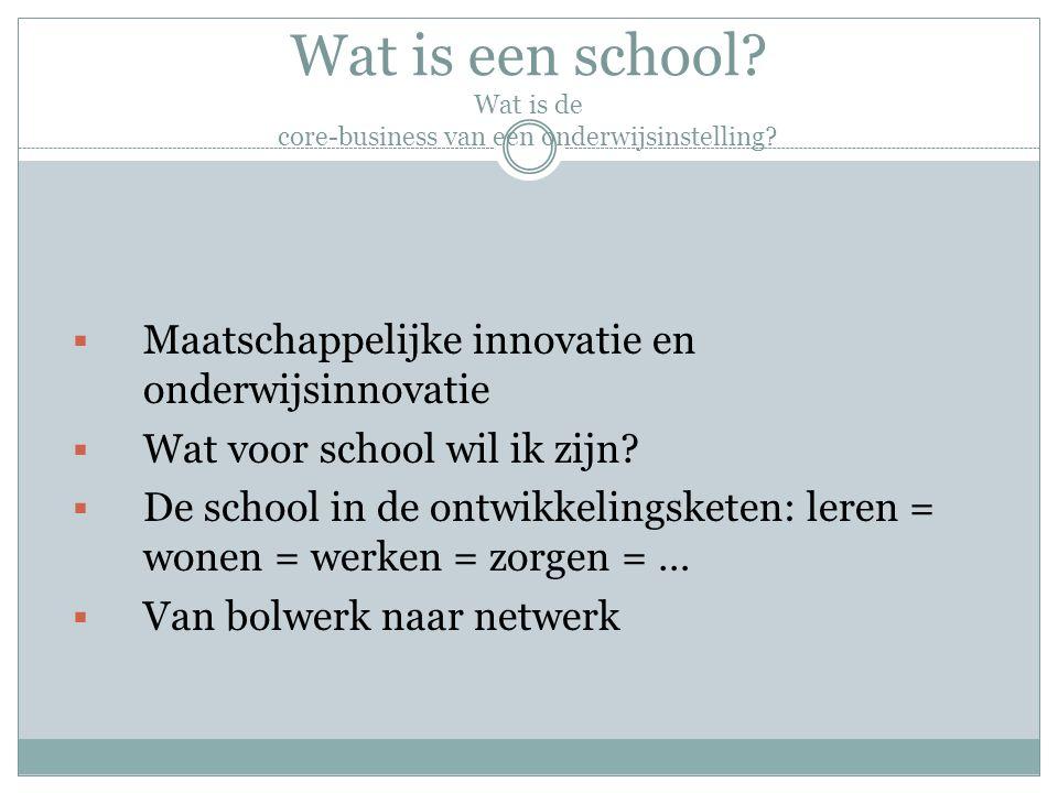 Wat is een school. Wat is de core-business van een onderwijsinstelling.
