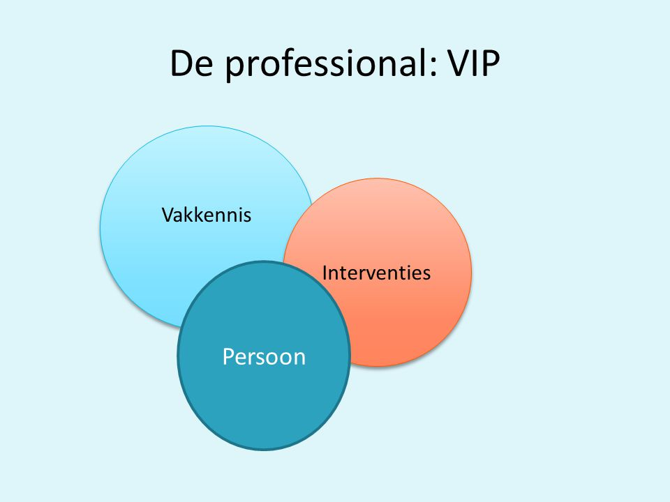 De professional: VIP Vakkennis Interventies Persoon