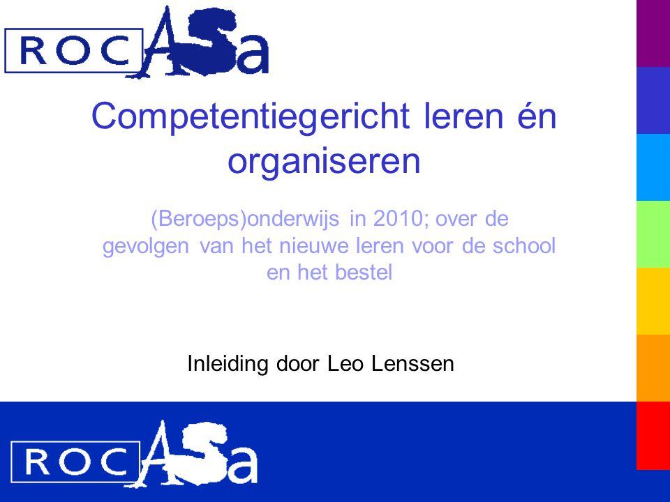 De school en het bestel in 2010-2015 Het klassieke bestel bestaat niet meer Gebruikersorganisaties dominant i.p.v.