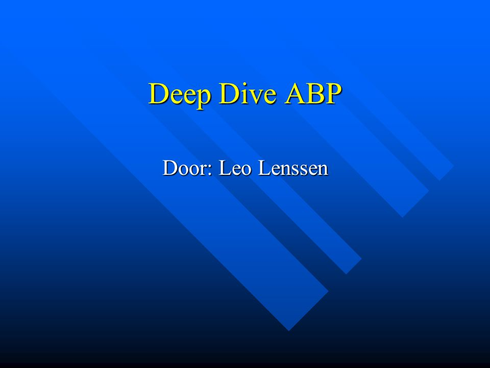 Deep Dive ABP Door: Leo Lenssen