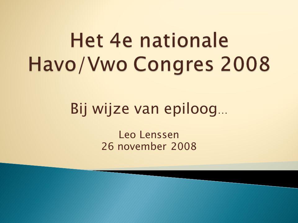 Bij wijze van epiloog … Leo Lenssen 26 november 2008