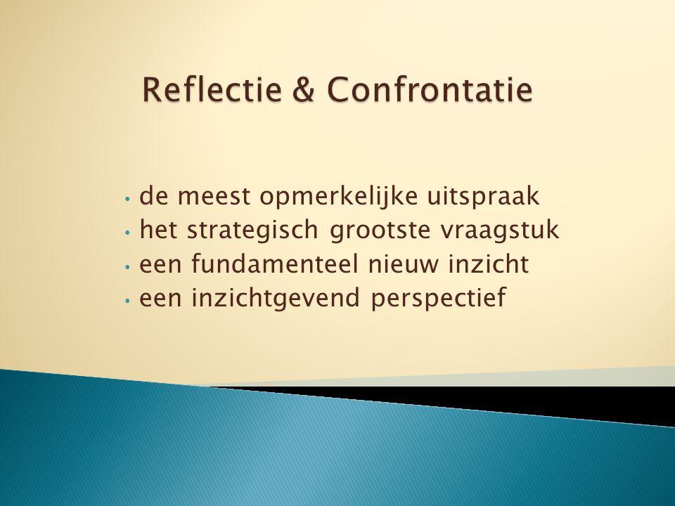de meest opmerkelijke uitspraak het strategisch grootste vraagstuk een fundamenteel nieuw inzicht een inzichtgevend perspectief