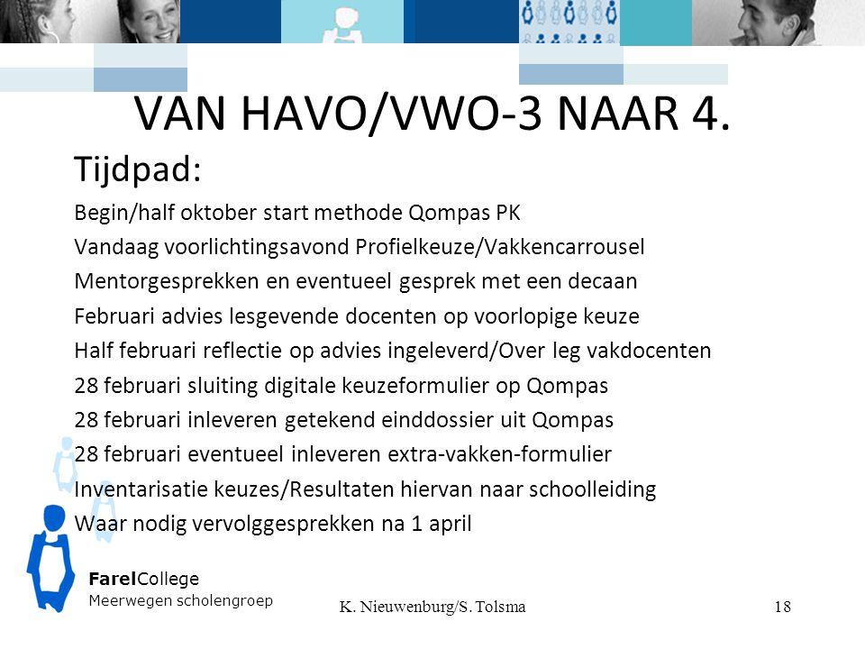 FarelCollege Meerwegen scholengroep VAN HAVO/VWO-3 NAAR 4.