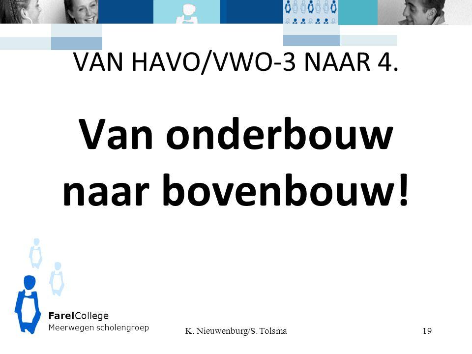 VAN HAVO/VWO-3 NAAR 4. Van onderbouw naar bovenbouw.