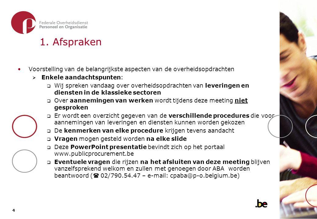 5 5 2.Soorten aannemingen Aanneming van werken  bv.
