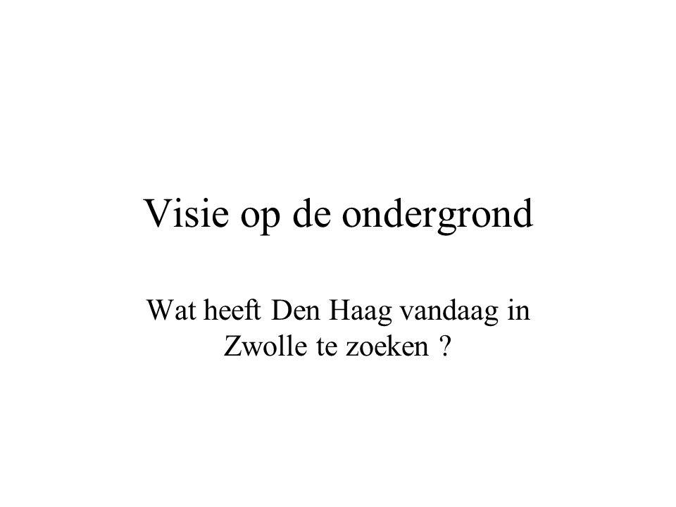 Visie op de ondergrond Wat heeft Den Haag vandaag in Zwolle te zoeken ?