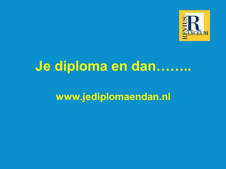 Je diploma en dan…….. www.jediplomaendan.nl