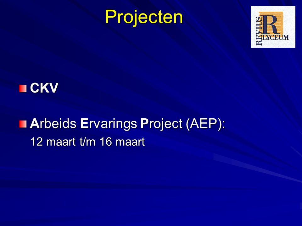ProjectenCKV Arbeids Ervarings Project (AEP): 12 maart t/m 16 maart.