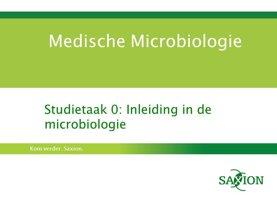 Kom verder. Saxion. Medische Microbiologie Studietaak 0: Inleiding in de microbiologie