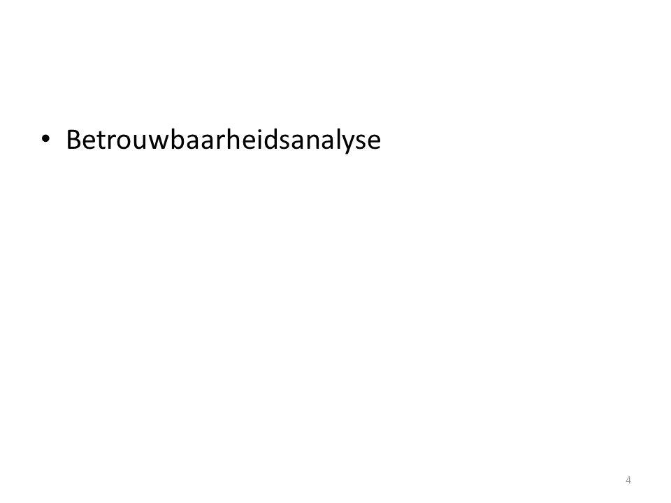 Betrouwbaarheidsanalyse 4