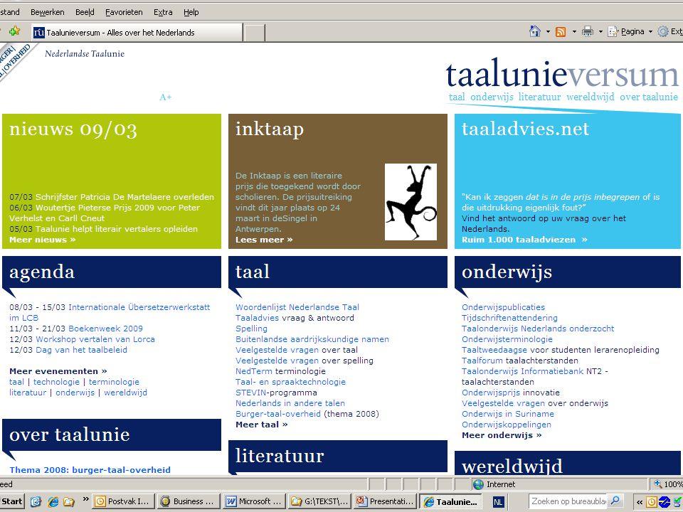 Kalender 2009 Zomercursussen Zeist, Hasselt, Gent Docentencursussen Zomercursus Literair Vertalen Colloquium IVN Advies Raad over neerlandistiek New York 400