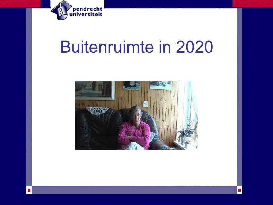 Buitenruimte in 2020