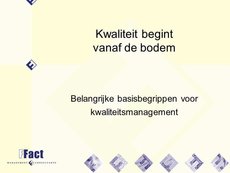 2 Het werkboek - 1998 BEVER (1996) kan niet zonder kwaliteitszorg.