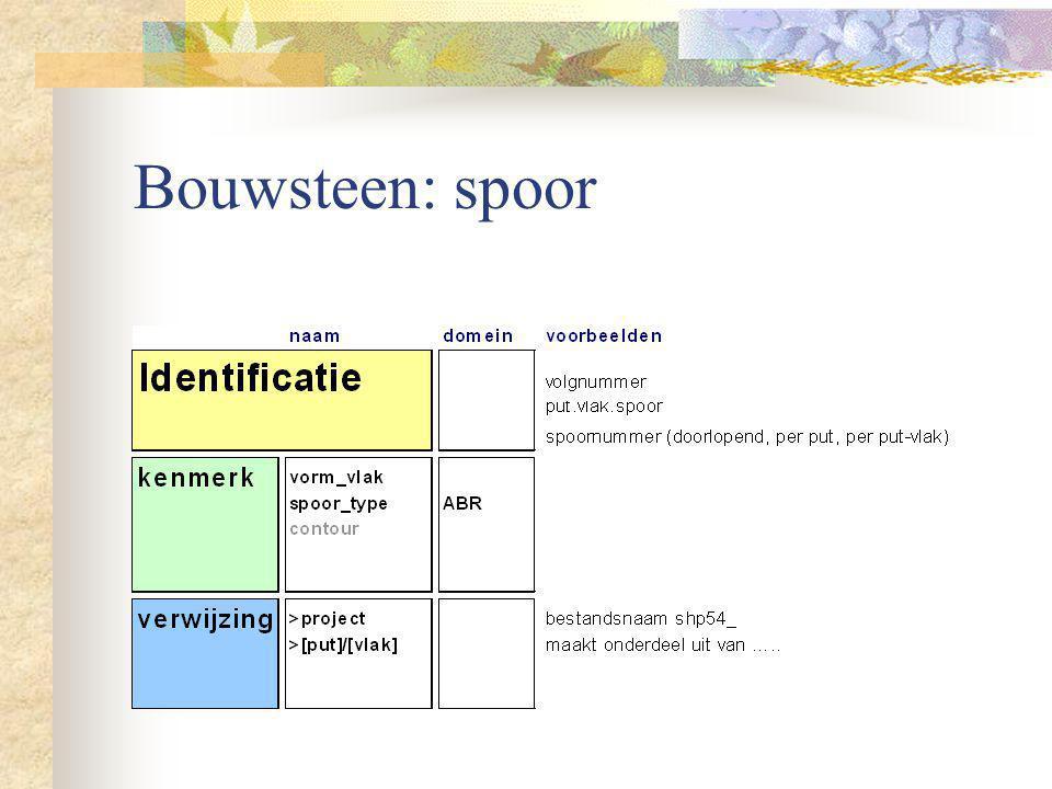 Bouwsteen: spoor