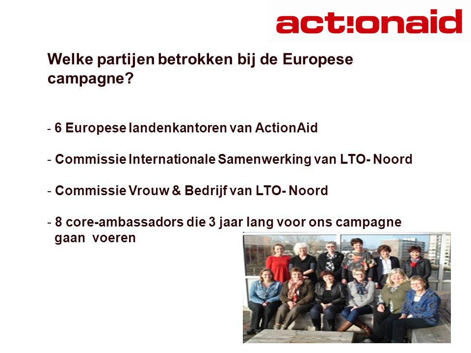 Welke partijen betrokken bij de Europese campagne.
