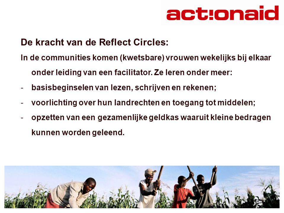 De kracht van de Reflect Circles: In de communities komen (kwetsbare) vrouwen wekelijks bij elkaar onder leiding van een facilitator.
