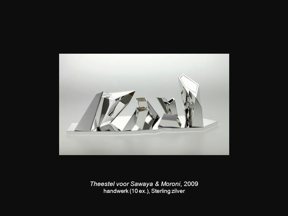 Theestel voor Sawaya & Moroni, 2009 handwerk (10 ex.), Sterling zilver