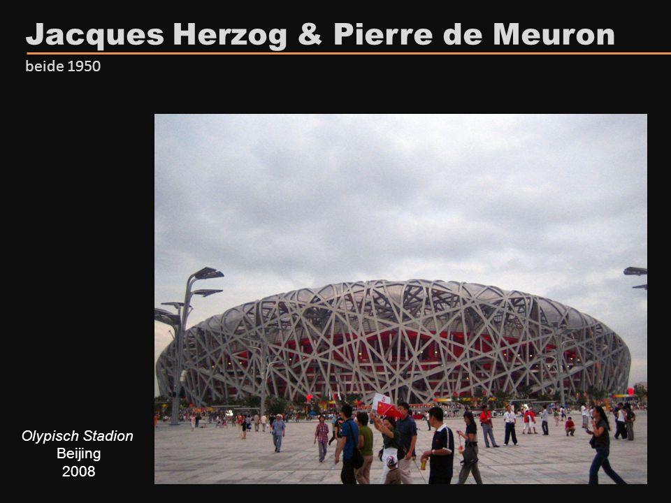 Olypisch Stadion Beijing 2008 Jacques Herzog & Pierre de Meuron beide 1950