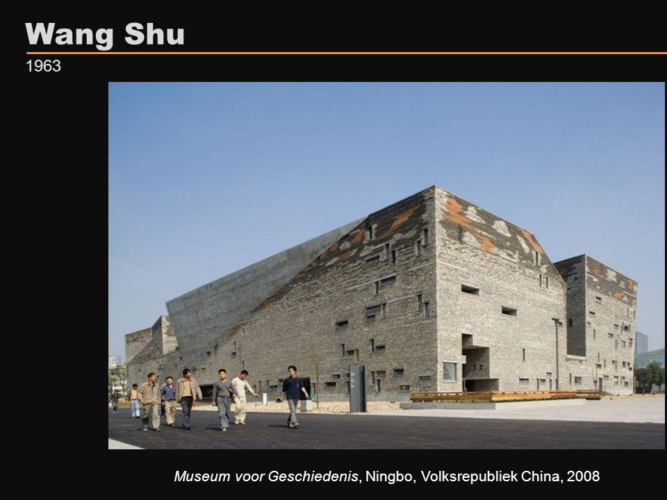 Museum voor Geschiedenis, Ningbo, Volksrepubliek China, 2008 Wang Shu 1963