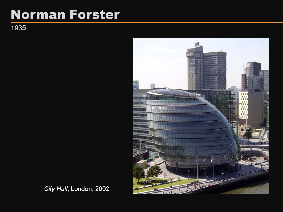 Norman Forster City Hall, London, 2002 1935