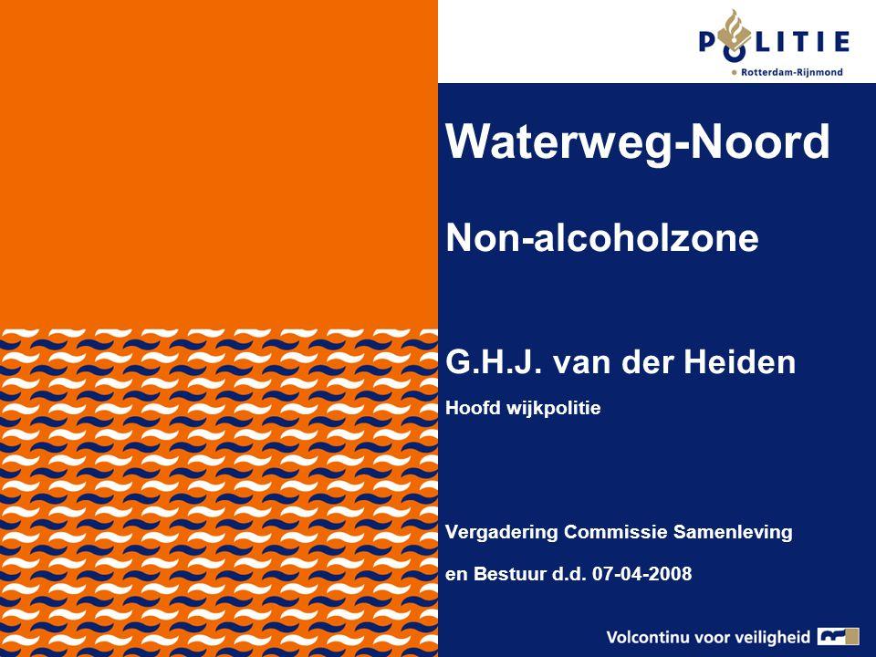 Aanleiding Alcohol gerelateerde overlast in de gemeente Schiedam