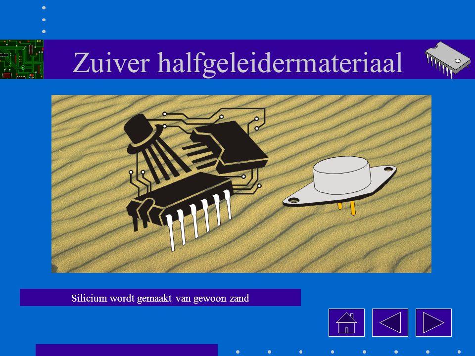 Zuiver halfgeleidermateriaal Silicium wordt gemaakt van gewoon zand