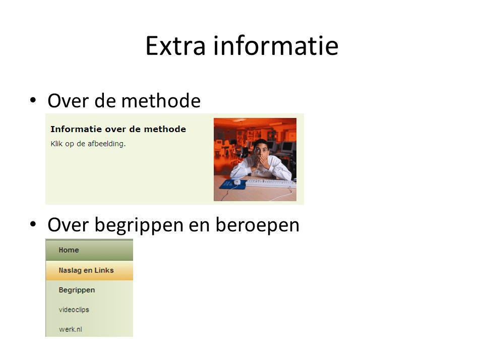 Extra informatie Over de methode Over begrippen en beroepen