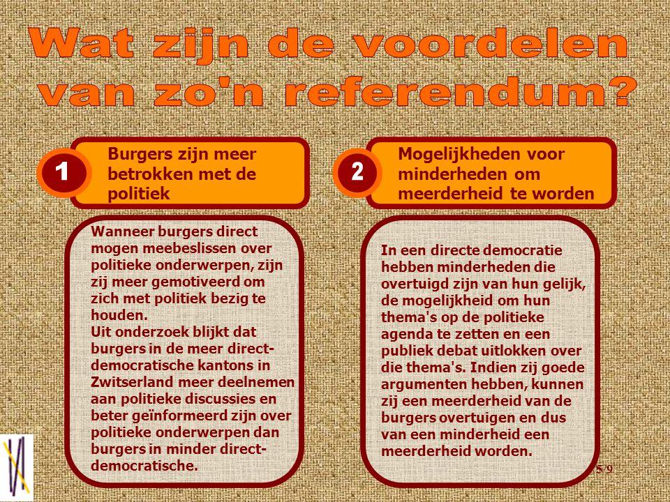 4/9 Op dinsdag 3 december, wordt er voor het eerst in Zoetermeer een burgemeestersreferendum gehouden.