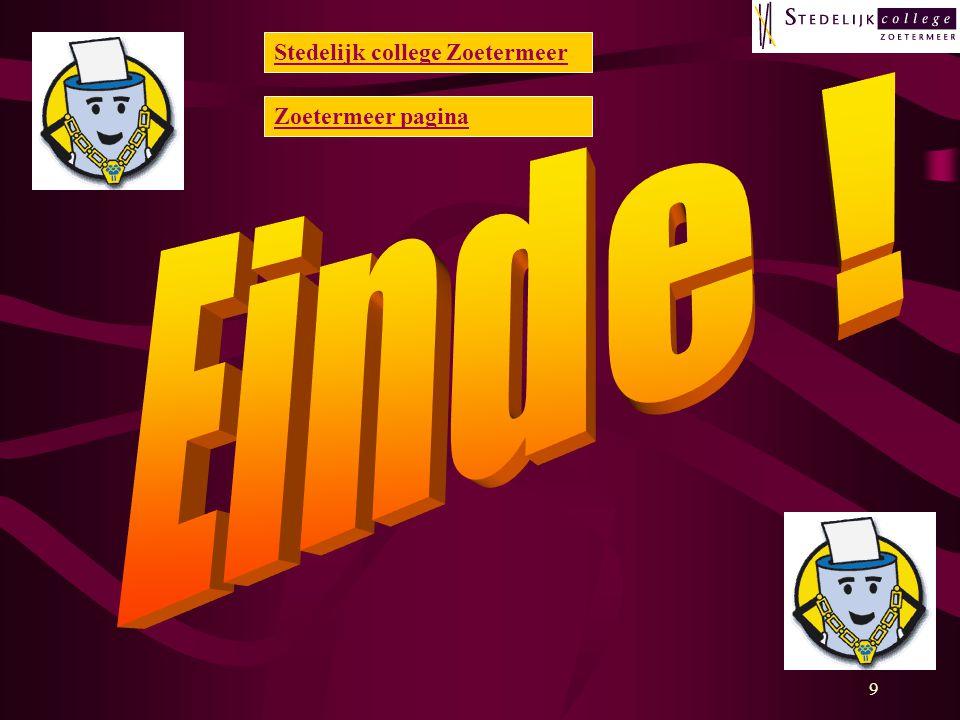 9 Stedelijk college Zoetermeer Zoetermeer pagina