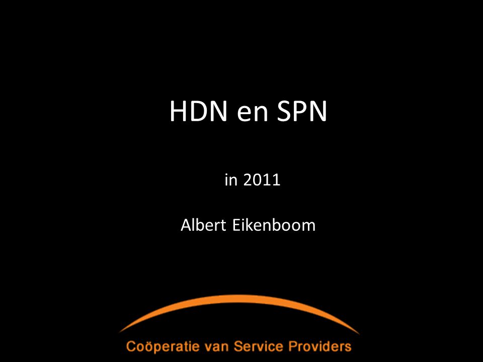 HDN en SPN in 2011 Albert Eikenboom