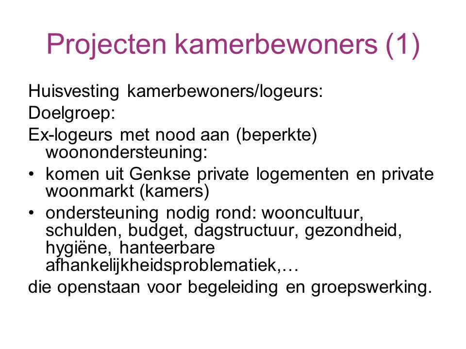 Ontstaan: Eerste aanzet in 2002 Provinciaal Project Samenwerking tussen : * Sociale huisvestingsmaatschappij * OCMW * CAW Sonar van Genk, Hasselt, St.