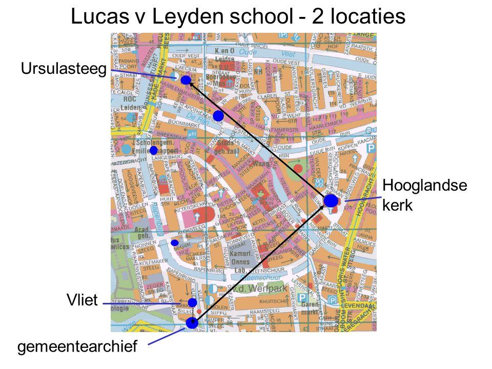 Lucas v Leyden school - 2 locaties gemeentearchief Hooglandse kerk Ursulasteeg Vliet